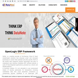 Best ERP Solution For Manufacturing Industries -DataNote Software