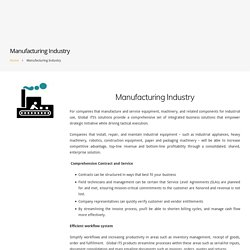 Manufacturing Industry - Global iTS