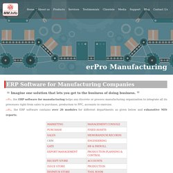 #1 ERP Software for Manufacturing Industry, Delhi NCR