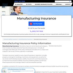 Manufacturing Insurance - Cost & Coverage (2019)
