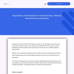 Importance of Checklists for Food Services, Retail & Manufacturing Industries - Wobot Intelligence