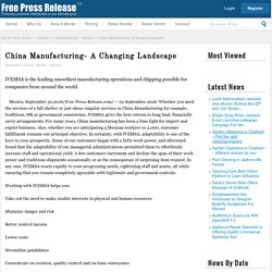 China Manufacturing- A Changing Landscape