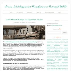 Dietary Supplements Industry