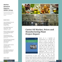 Castor Oil Market, Prices and Manufacturing Plant Project Report