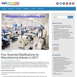 Manufacturing BPO Services