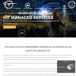 Internet of Things (IoT) Managed Services for Enterprise, Manufacturing Industry, IoT Consulting Services, Digital transformation