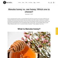 Manuka Honey vs. Raw Honey: How Are They Different? – Bee Baltic