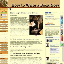 Manuscript Format for Novels