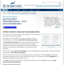 Manuscript Proofreading - Fast and Affordable