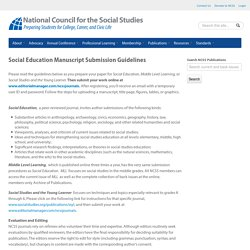 Social Education Manuscript Submission Guidelines