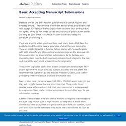 » Baen: Accepting Manuscript Submissions