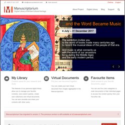 European Digital Library of Written Cultural Heritage | Manuscri