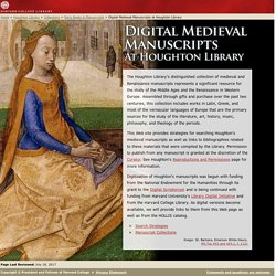 Digital Medieval Manuscripts - Collections - Houghton Library
