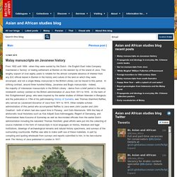 Malay manuscripts on Javanese history