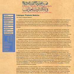 Islamic Medical Manuscripts: Prophetic Medicine 1