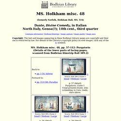 Holkham misc. 48: Purgatorio