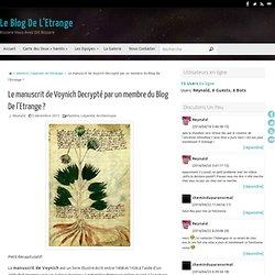 Le manuscrit de Voynich Decrypté par un membre du Blog De l'Etrange ?