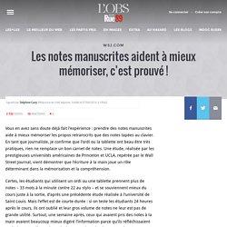 Les notes manuscrites aident à mieux mémoriser, c'est prouvé!