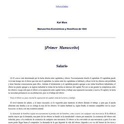 K. Marx (1844): Manuscritos Económicos y filosóficos