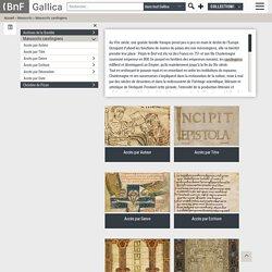 Manuscrits carolingiens