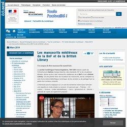 Les manuscrits médiévaux de la BnF et de la British Library
