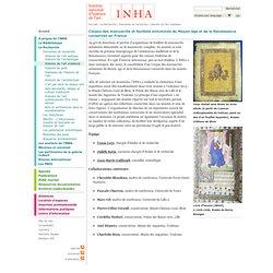 Corpus des manuscrits et feuillets enluminés du Moyen âge et de la Renaissance conservés en France