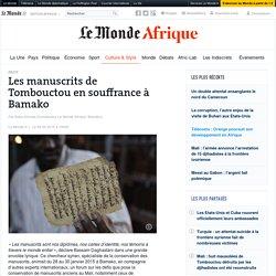 Les manuscrits de Tombouctou en souffrance à Bamako