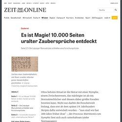 Zauberei: Die Leipziger Manuskripte schließen eine Forschungslücke