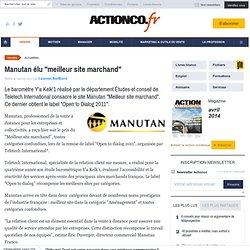 Manutan élu 'meilleur site marchand'