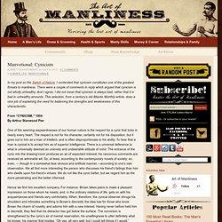 Manvotional: Cynicism