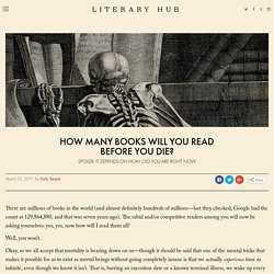 How Many Books Will You Read Before You Die?