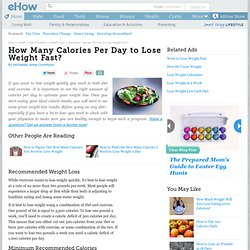 Minimum Calories Per Day For Weight Loss
