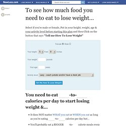 See How Many Calories or How Much You Need To Eat To Lose Weight Fast