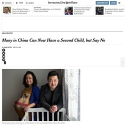 Many in China Can Now Have a Second Child, but Say No