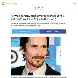 Why do so many men have red beards but not red hair? (Well it isn't due to their soul)