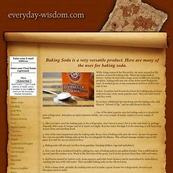 Many uses for baking soda. - StumbleUpon