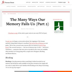 The Many Ways Our Memory Fails Us (Part 2)