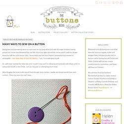 Many Ways to Sew on a Button