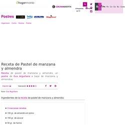 Receta de Pastel de manzana y almendra - Eva Arguiñano