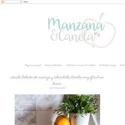 Manzana&Canela: Tarta helada de naranja y chocolate. Receta muy fácil sin horno.