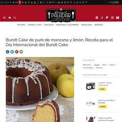 Bundt Cake de puré de manzana y limón. Receta de postre fácil y sencilla