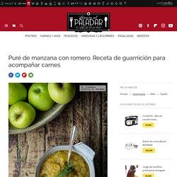 Puré de manzana y romero. receta de cocina fácil, sencilla y deliciosa
