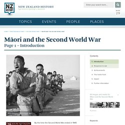 Maori and the Second World War - Maori and the Second World War
