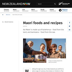 Maori foods and recipes