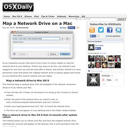 Map a network drive on a Mac - OS X Daily