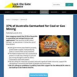 Map Australian of coal and gas