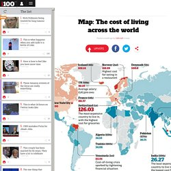 Map: The cost of living across the world