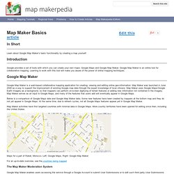 Map Maker Basics - Map Makerpedia