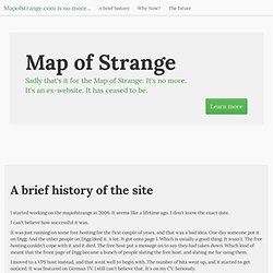 MapOfStrange.com - Strange things in Google Maps
