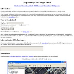 Map overlays for Google Earth